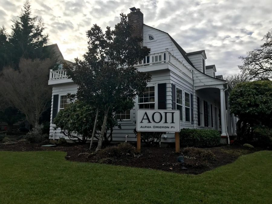 Sorority house on campus that was damaged by flooding.