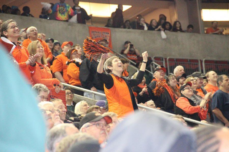 Linda OHara traveled to Seattle to cheer on her beloved Beavers