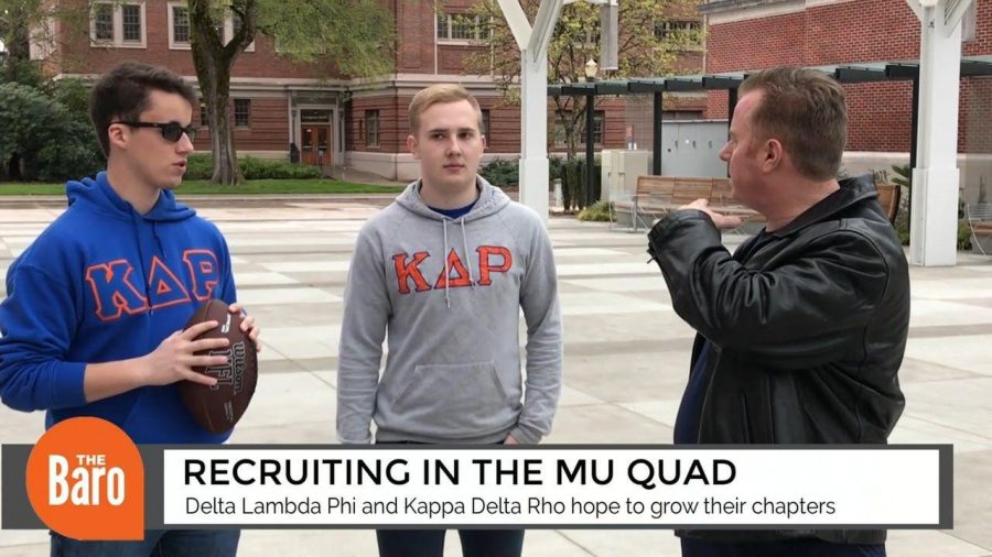 Two smaller fraternities recruit in the Memorial Union Quad