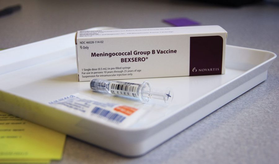 Student Health Services stocks a vaccine against strain B of meningococcal meningitis, which is available for students.