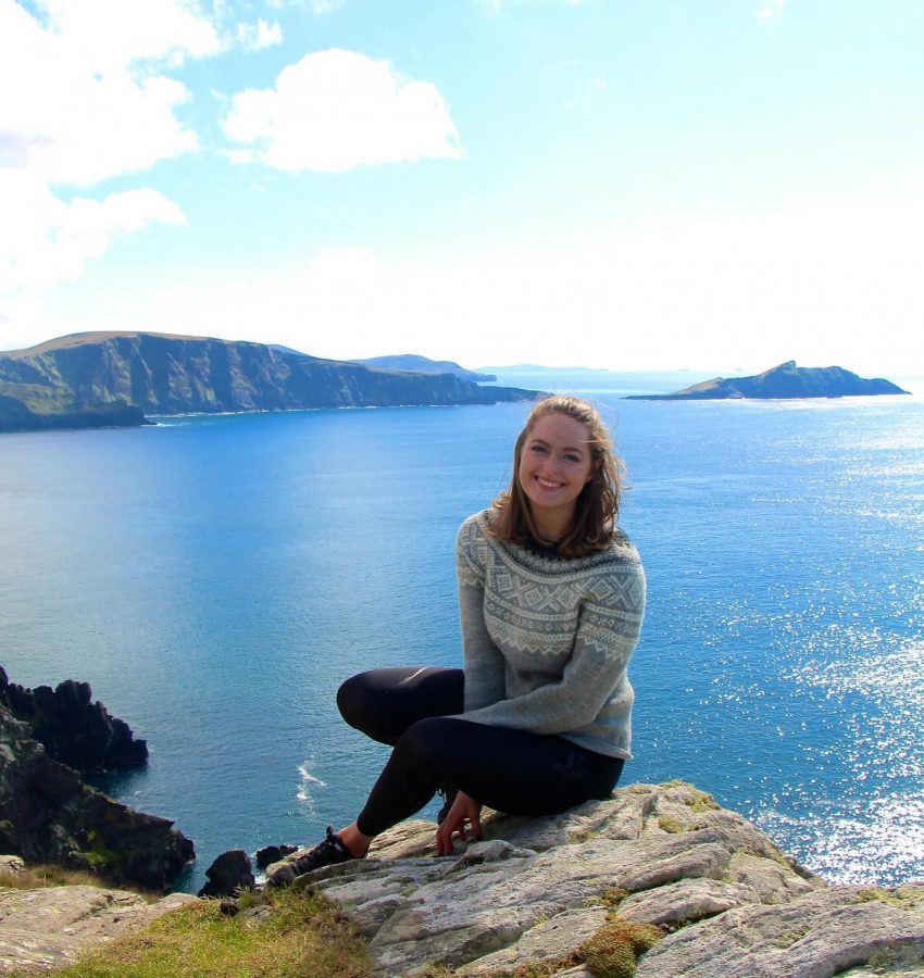 Ane Dahlen poses on the coast of Ireland. Dahlen is an exchange student from Norway studying at the University College Cork and reflects on Norway's homelessness population and policies.