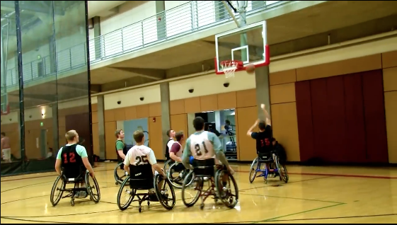 Mr. Wheel Your Girl and Lambda Wheelchair A2 battled for the 2017 OSU recreational sports intramural championship this fall.