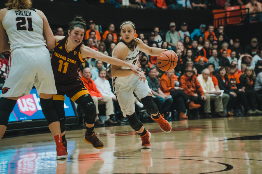 Mikayla+Pivec+puts+up+double-digits+on+the+scoreboard+against+Arizona+State+University.%C2%A0