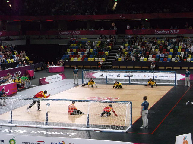 Goalball is played with three players on the pitch at one time, with the players attempting to throw the ball into the opponents net. Goalball has been a Paralympic sport since the 1976 Summer Games in Toronto.