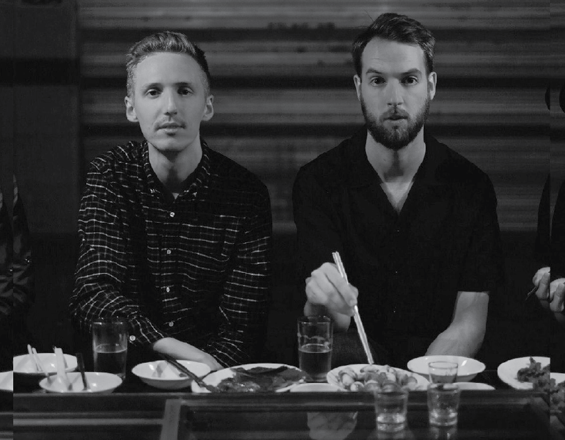 James+Hatcher+and+Andy+Clutterbuck%2C+the+two+artists+of+the+band+Honne%2C+eat+an+array+of+food.