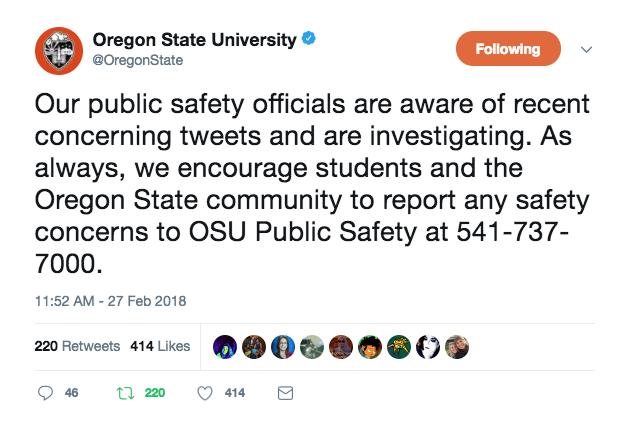 OSU tweet