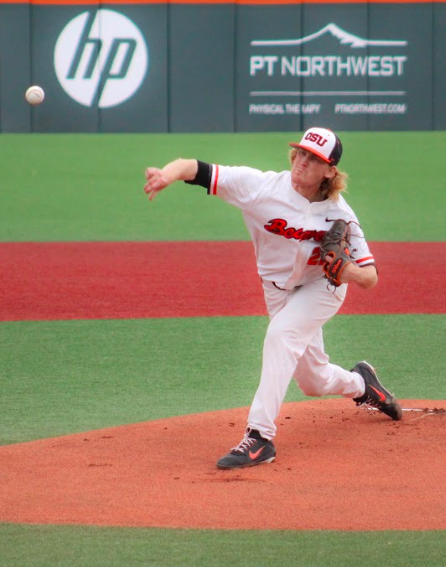 OSU+junior+pitcher+Bryce+Fehmel+held+UCLA+to+only+three+hits+as+the+Beavers+went+on+to+win+the+game+4-1+on+Friday%2C+May+25.