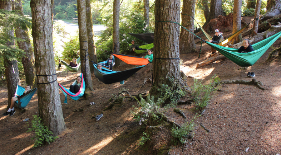 The+Hammocking+Club+enjoys+hanging+out+in+a+forest+together.+Various+outings+are+planned+throughout+the+year%2C+including+their+most+recent+trip+to+the+Three+Sisters+area+this+past+weekend.