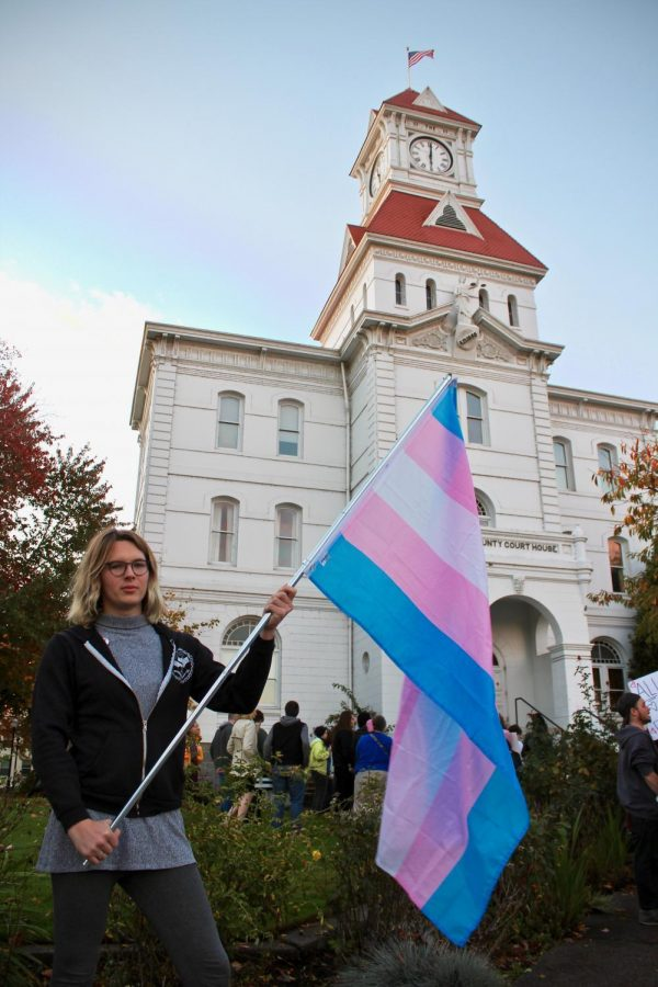 Ava+Thresh+holds+out+her+transgender+flag+proudly+after+her+speech+about+protecting+trans+rights