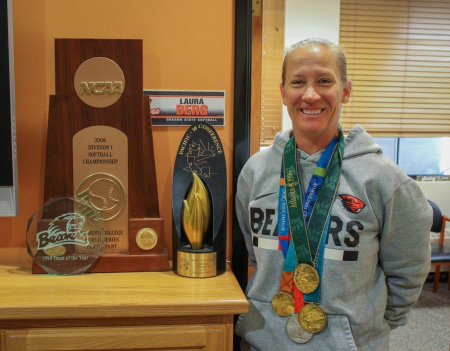 Oregon+State+Softball+Head+Coach+Laura+Berg+has+an+Olympic+medal+from+four+separate+Olympic+games%2C+along+with+multiple+other+accolades.%C2%A0%C2%A0