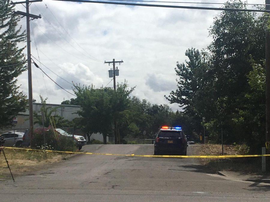Crime scene near Foster Farms on Thursday morning following an active shooter incident