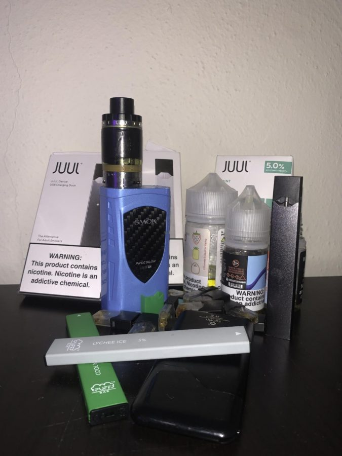 The health effects of vaping products, such as these Juul products, are being debated in the Oregon legislature.