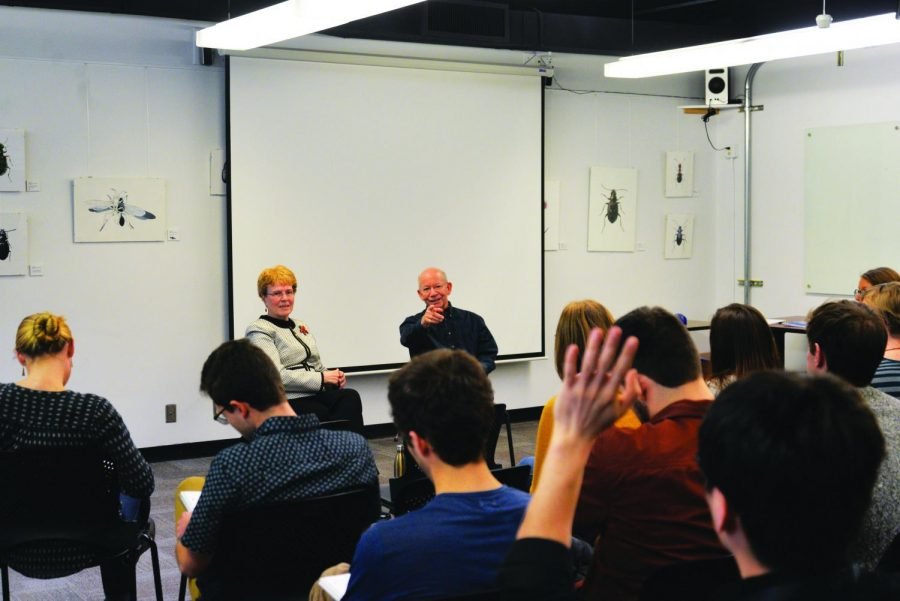 House Representative Peter DeFazio answers questions in an Oregon State University class.
