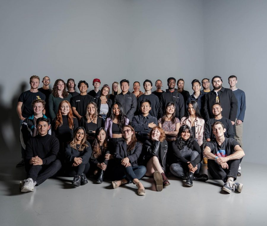 The DAMchic staff pose for a photo in fall 2019.