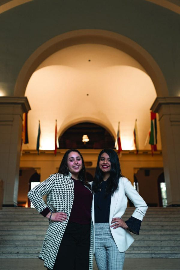 Associated Students of Oregon State University Presidential Candidate Isabel Nuñez Pérez, left, and Vice Presidential Candidate Metzin Rodriguez make up one of three presidential tickets in the 2020 election.