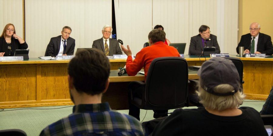 Jay Thatcher, a Corvallis resident and retired physical education teacher, speaks to the City Council about the hazards on Third St. on Feb. 3. The street has been the site of two pedestrian deaths within the last few years, the most recent occurred in early January when an 11-year-old girl was struck by a car while crossing in a designated crosswalk.