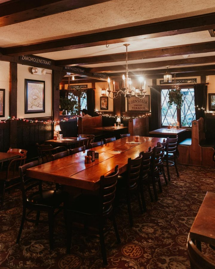 The McMenamins dining room sits mostly empty in January, 2020.