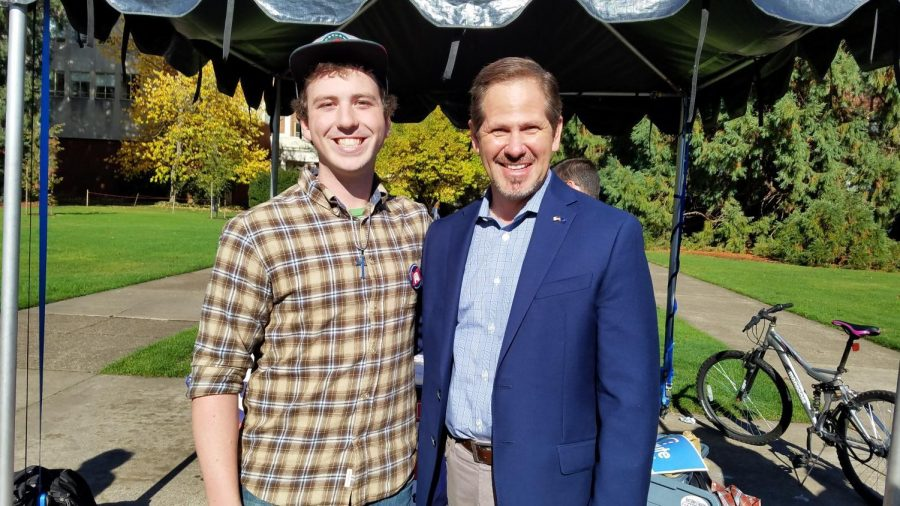 Benjamin+Bailey+is+the+president+of+College+Republicans+on+campus.+This+photo+was+taken+at+a+College+Republicans+event+last+year+with+Knute+Buhler%2C+the+Republican+gubernatorial+candidate.