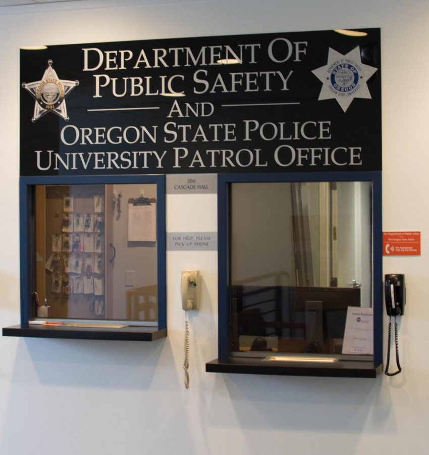 The Department of Public Safety is located on the second floor of Cascade Hall on 17th and Washington Way. Oregon State Universitys contract withOregon State Police ends on June 30, and in its place, OSU has established a Corvallis campus police department.