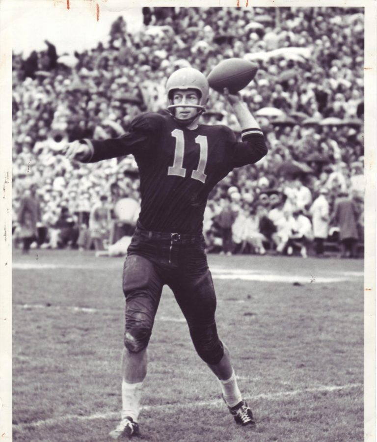 Former Oregon State quarterback Terry Baker. Baker would go on to win a Heisman Trophy with the Beavers in 1962, as well as making an appearance in the Final Four with the mens basketball team a few months later.Photo contributed by Oregon State Athletics