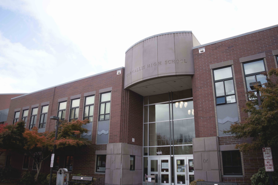 Corvallis High School, one of the school's in the Corvallis School District operating under exclusive remote learning, still has their facilities staffed Monday through Friday. Information about their hours of operation are posted on the school's entrance, and can also be found online.