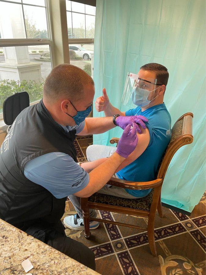 Phase 1B vaccinations start to take place. Those involved at the Prestige Senior Living West Hills are getting their vaccine.