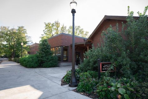 Photo of the Lonnie B. Harris Black Cultural Center on Oregon State Universitys campus. Terrance Harris, the assistant director at the BCC credits Fred Milton, the former OSU student-athlete, with the development of cultural centers across the OSU campus.