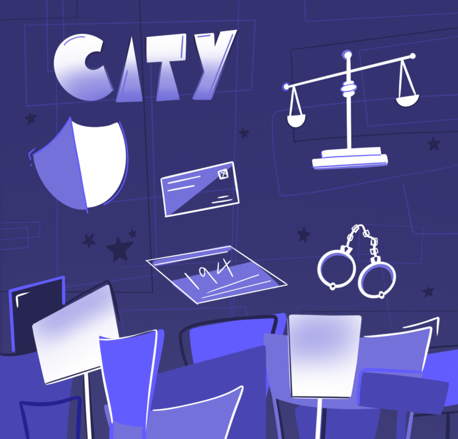 A photo illustration created to show the various topics the city section ofThe Barometer focuses on. After several years working within Orange Media Network, Joe Wolf was appointed to be the first city editor for The Barometer.