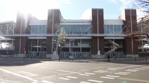 Reser Stadium stands in the fall sunlight in this file photo from 2016. After a recent donation, the university plans to renovate the west side of the stadium with a look toward the future of the program.