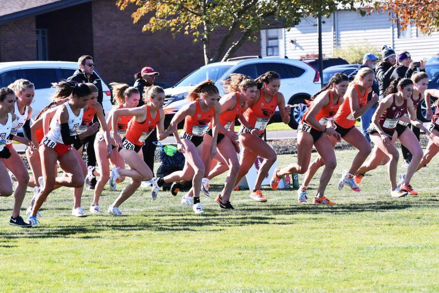 The OSU Womens Cross Country team competes in the PAC-12 Championships in this photo from 2019. The Beavers finished fourth in the 2021 conference championship, a program best finish, and finished 16th in the NCAA Championship on March 15.