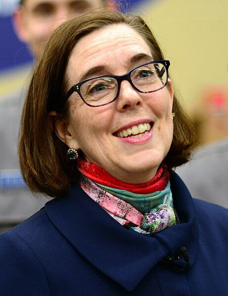 Oregon Governor Kate Brown poses for a photo on March 9, 2017, in Bend, Ore.
