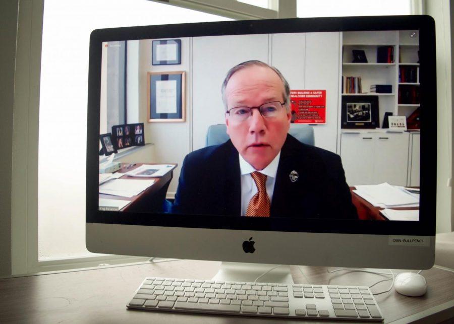 F. King Alexander, Oregon State Universitys president.