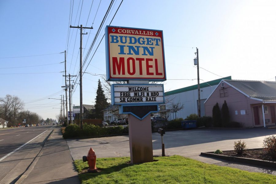 The Corvallis Budget Inn can be seen on the Corvallis 99 West road. With the city of Corvallis purchasing the south town motel, the city is now repurposing to building to support the ever-growing local homeless population.