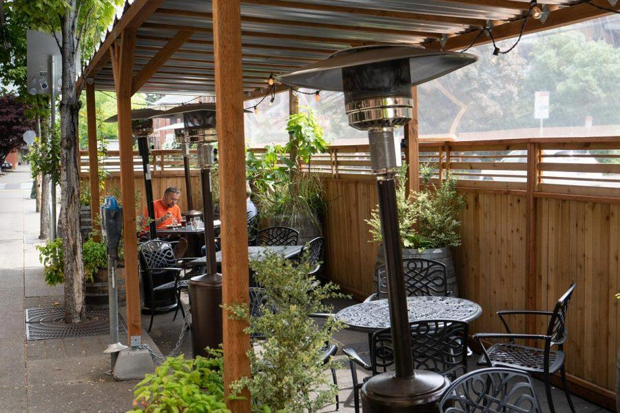 As outdoor seating has become more and more common in Corvallis, McMenamins on Monroe allows for a blend of social distancing with the feel of a restaurant that's missed due to COVID-19 restrictions tightening in Benton County.