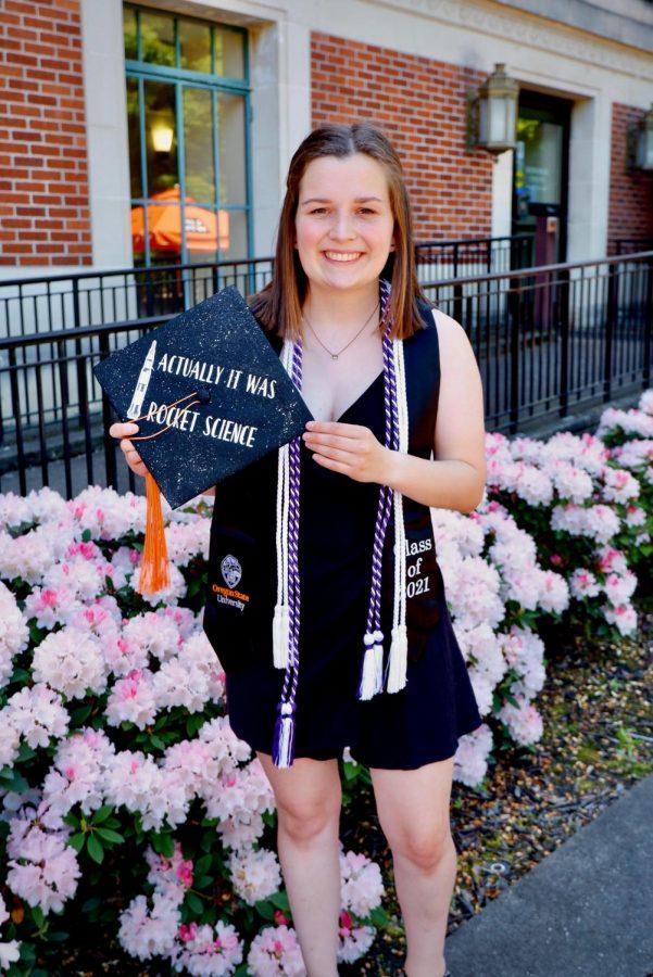 Kristen Travers graduated with a degree in mechanical engineering, a minor in aerospace engineering and will be working at Boeing as a systemsengineer. Travers isamong many Oregon State University students who have received thesumma cum laude honor.