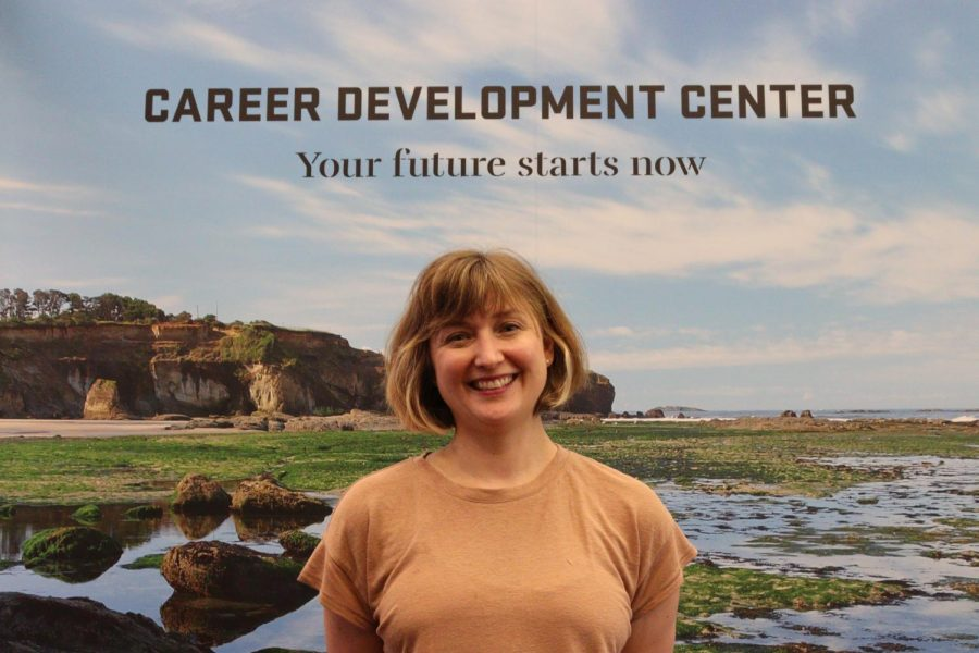 Elizabeth Simmons, employment developer, can be seen in the Oregon State Career Development Center. With students graduating year-in and year-out the OSCDC is always available to help and build students careers, no matter the field.