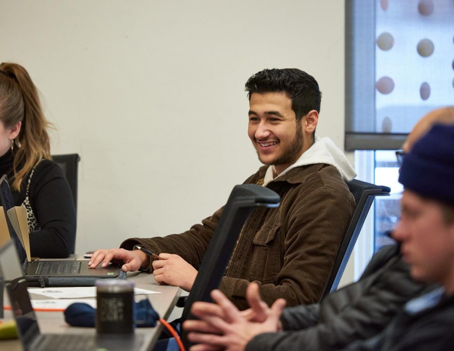 Pictured is Taha Elwefati, president of theAssociated Students of Cascades Campus. The ASCC and studentswereinvolved in the legislative process that allowed for funding for a new Student Success Center to be approved for the Oregon State University Cascades campus in Bend, Ore.