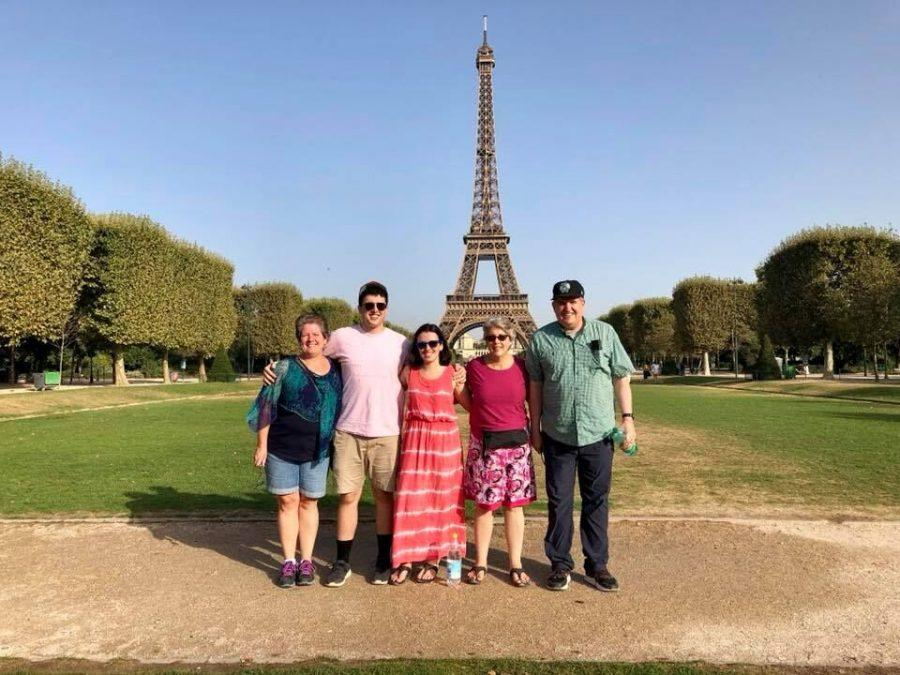 Mary (left),Emmett OMalley, Bridget OMalley, Nell OMalley and Mike OMalley posing for a photo in front of the Eiffel Tower in Paris, France in August 2018.Mike OMalley was a Senior Instructor in Oregon State Universitys College of Education Double Degree program for over 20 years, and died on July 1 at 63 years old.