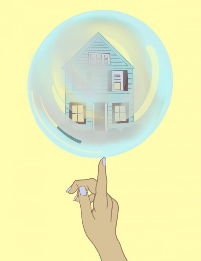 The housing market price bubble affects everyone, even people who don't own homes. This illustration shows the sensitivity of the market.