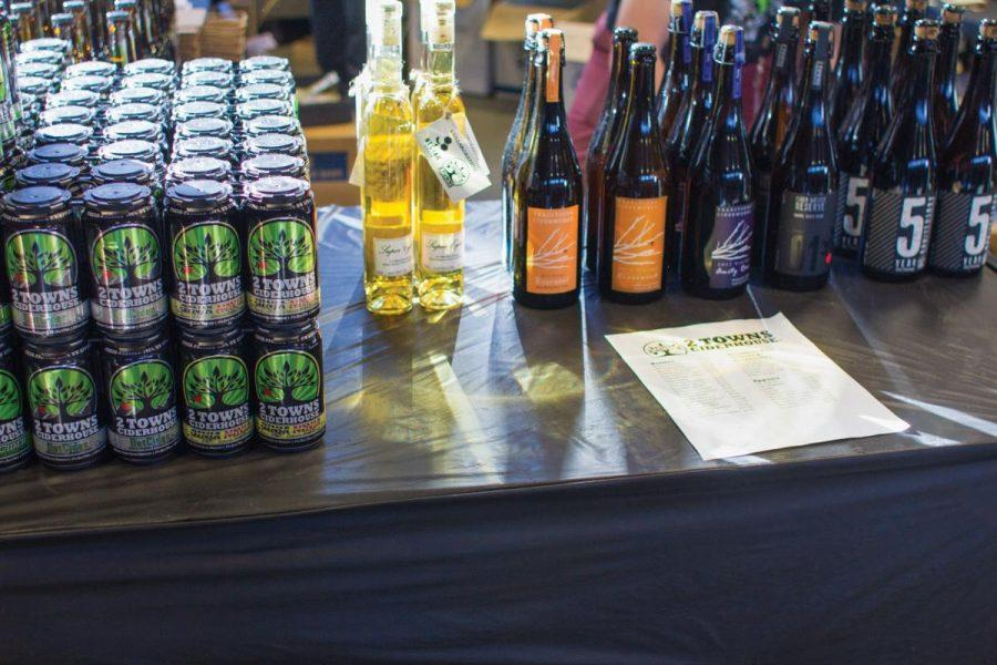 A display of various alcoholic drinks at the annual Septembeerfest event, shown prior to the COVID-19 pandemic.The annual event, which was planned to be held on Aug. 28 at Avery Park in Corvallis, Ore., has been cancelled by the organizers for the second year in a row due to COVID-19 safety concerns.