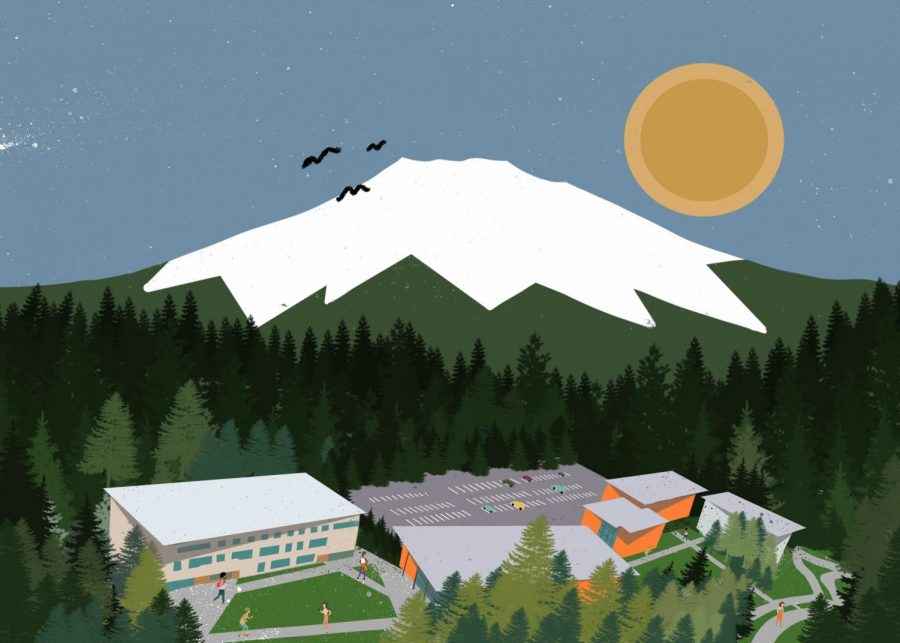 An illustration of some of what Bend, Ore. has to offer its Oregon State Cascades students. After seven terms of remote teaching and learning, the OSU Cascades campus is looking forward to welcoming back in person studies.