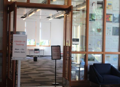 The Student Experience Center on OSUs Corvallis, Ore. campus serves as the newest COVID-19 testing site starting Sept. 22. The university says the SEC was selected as a testing site because it has a newer ventilation system and promotes easier access for students.