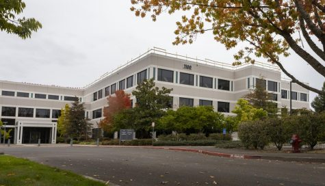 This photo shows the local tech firm, Inpria, located on NE Circle Boulevard in Corvallis, Ore. on Oct. 12. Inpria was sold to JSR, a Japanese company, for half a billion dollars on Sept. 17.