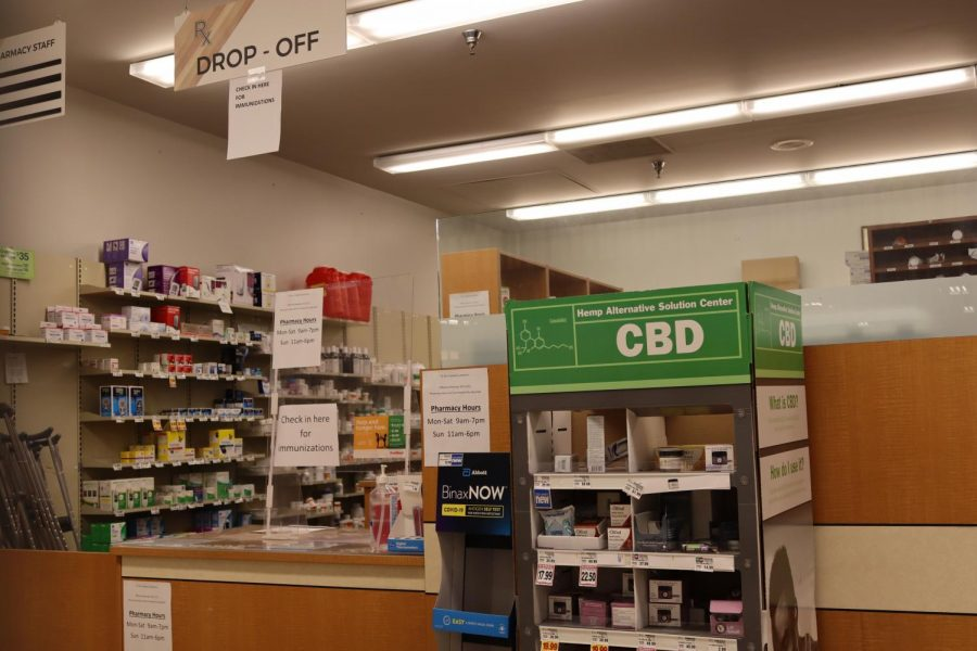 The Fred Meyer pharmacy located at 777 NW Kings Blvd. in Corvallis, Ore. on Oct. 27.  COVID-19 immunizations, flu shots and the closing of the Oregon State University student pharmacy are all potential factors leading to local pharmacies experiencing longer lines and wait times.