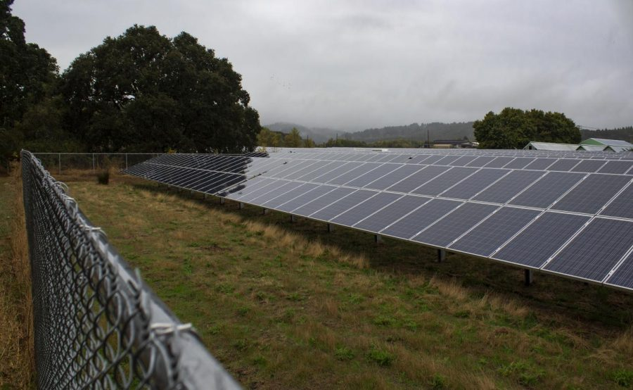 The SW 35th Street solar array installation on September 27th in Corvallis, Ore. Sierra Magazine ranked Oregon State University at the 26th position out of 328 colleges in the country for sustainability.